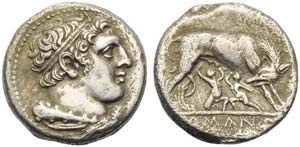 Anonymous, Didrachm, Neapolis (?), 289 BC; ...