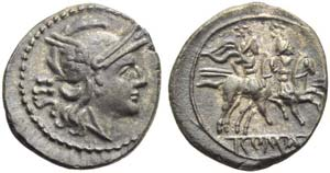 Anonymous, Sestertius, Rome, post 215-214 ...
