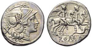 First cornucopiae series, Denarius, Rome, ...