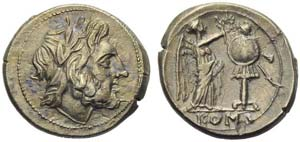 Anonymous, Victoriatus, Sicily, end of 3rd ...