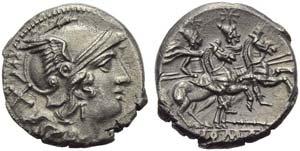 Staff series, Denarius, Sicily, c. 209-208 ...