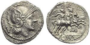 ROMA in monogram series, Quinarius, ...