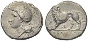 Lucania, Velia, Didrachm, c. 334-300 BC; AR ...