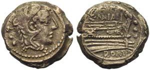 C. Maianus, Quadrans, Rome, 153 BC; AE (g ...