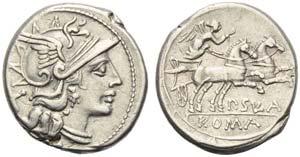 P. Cornelius Sulla, Denarius, Rome, 151 BC; ...