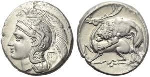 Lucania, Velia, Didrachm, c. 280 BC; AR (g ...