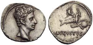 Augustus (27 BC - AD 14), Denarius, Spain: ...