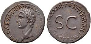 Augustus (27 BC - AD 14), As, Rome, AD ...