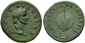 Divus Augustus, Dupondius, Rome, AD 96; AE ...