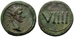 Time of Tiberius, Tessera, Rome, c. AD 17; ...
