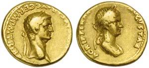 Claudius (41-54), Aureus, Rome, AD 50-54; AV ...