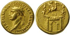 Drusus Maior, father of Claudius, Aureus, ...