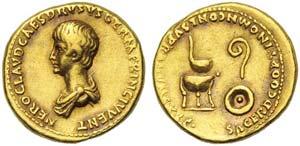 Nero, as Caesar, Aureus, Rome, AD 50-54; AV ...