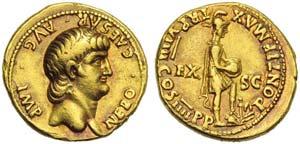 Nero (54-68), Aureus, Rome, AD 62-63; AV (g ...