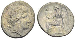 Bruttium, Terina, Drachm, c. 300 BC; AR (g ...