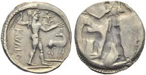 Bruttium, Caulonia, Stater, c. 500-480 BC; ...