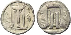 Bruttium, Croton, Stater, c. 530-500 BC; AR ...
