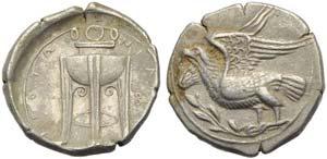 Bruttium, Croton, Stater, c. 350-300 BC; AR ...