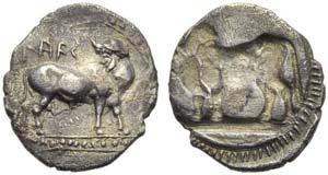 Bruttium, Laos, Drachm, c. 510-500 BC; AR (g ...
