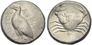 Sicily, Akragas, Tetradrachm, c. 471-430 BC; ...