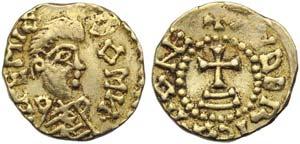 Merovingians, Tremissis, Austrasia: ...