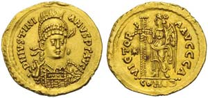 Ostrogoths, Athalaric (526-534), Solidus in ...