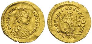 Ostrogoths, Athalaric (526-534), Tremissis ...