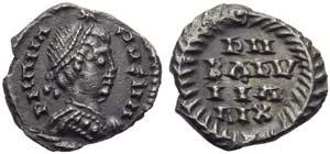 Ostrogoths, Baduila (541-552), Half Siliqua ...