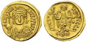 Justinian I (527-565), Solidus, Carthage, AD ...