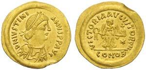 Justinian I (527-565), Tremissis, Ravenna, ...