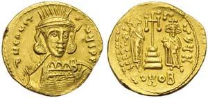 Constantine IV with Heraclius and Tiberius ...
