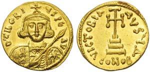 Tiberius III Apsimar (698-705), Solidus, ...