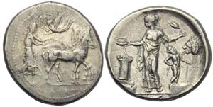 Sicily, Himera, Tetradrachm, c. 440-425 BC; ...