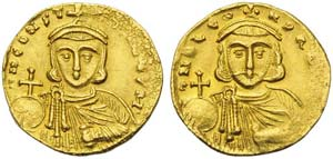 Leo III (717-741), Solidus, Constantinople, ...