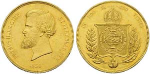 Brazil, Peter II (1831-1889), 20.000 Reis, ...