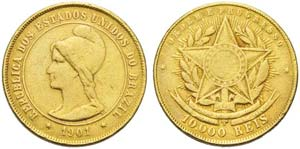 Brazil, Republic (1889-1930), 10.000 Reis, ...