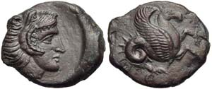 Sicily, Solous, Bronze, first half of 4th ...
