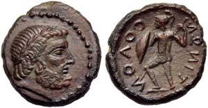 Sicily, Solous, Bronze, post 241 BC; AE (g ...