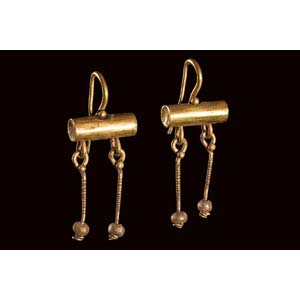 Pair of Roman gold earrings 1st – 2nd ...