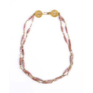 Roman gold and coral necklace 2nd – 3rd ...