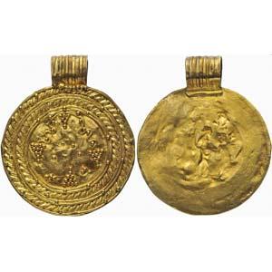 Barbaric gold medallion 3rd century AD; ...