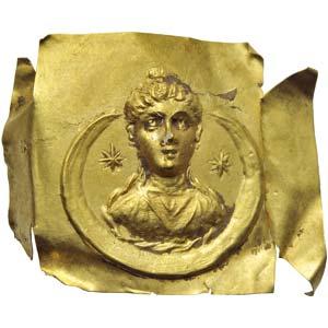 Gold lamina with Selene 2nd - 3rd century ...