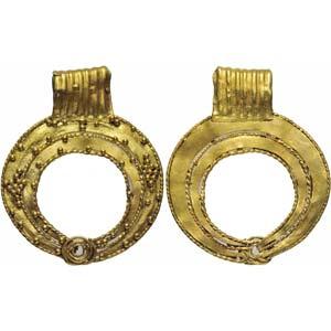 Roman gold lunula  3rd century AD; height mm ...