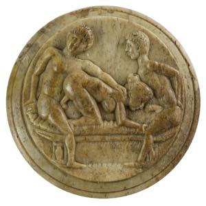 Roman bone tessera with erotic scene 2nd – ...