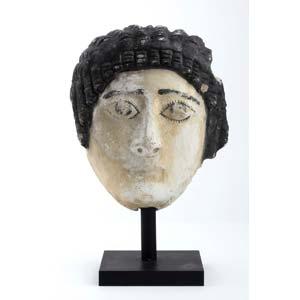 Roman Egytian funerary mask  1st century AD; ...