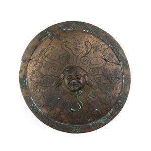 Greek archaic bronze umbo with Medusa 6th ...