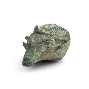 Greek bronze ram protome 6th century BC; ...