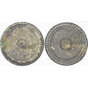 A couple of Roman silver-tinning mirrors 1st ...