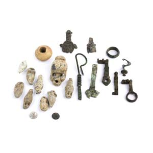 A collection of bronze and lead items 1st ...