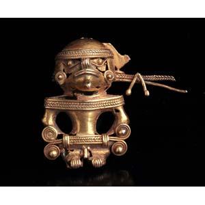Pre-Columbian Bat-Shaman figure Colombia, ...